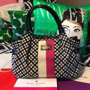 NWOT Kate Spade Black Cream and Pink Handbag